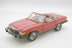 miniature de voiture Mercedes 450SL rouge 1973 au 1/24e CMC Modelcars Quirao idées cadeaux