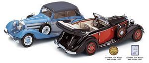 miniature de voiture Mercedes 540K cabriolet B 1936 37 échelle 1/24e CMC Modelcars Quirao idées cadeaux