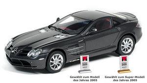 miniature de voiture Mercedes SLR Mac Laren anthracite (1:18e) CMC Modelcars Quirao idées cadeaux