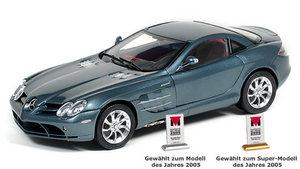 miniature de voiture Mercedes SLR Mac Laren gris métal (1:18e) CMC Modelcars Quirao idées cadeaux