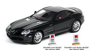 miniature de voiture Mercedes SLR Mac Laren noire (1:18e) CMC Modelcars Quirao idées cadeaux