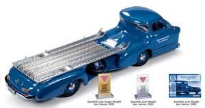 miniature de voiture Mercedes Transporteur Competition 1955 (1:18e) CMC Modelcars Quirao idées cadeaux