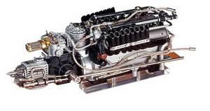 miniature de voiture Moteur V16 Auto-Union Type C 1939 (1:18e) CMC Modelcars Quirao idées cadeaux