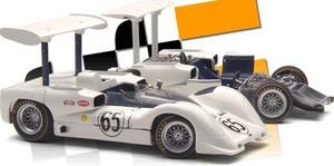 miniature de voiture Chaparral 2E Set 1er Laguna Seca P HILL + chassis (RLG18162) Exoto Quirao idées cadeaux