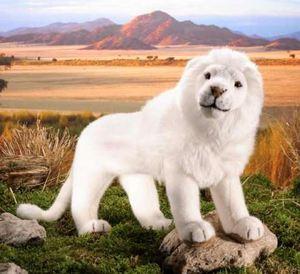 peluche Lion blanc 48 cm Kosen Quirao idées cadeaux