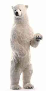 peluche Ours polaire géant dressé 260 cm - 4013 Anima Quirao idées cadeaux