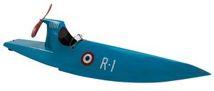 maquette de bateau, voilier, runabout Bateau de vitesse bleu - 101 cm Authentic Models -AM- Quirao idées cadeaux