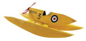 maquette de bateau, voilier, runabout Bateau de vitesse jaune - 70 cm Authentic Models -AM- Quirao idées cadeaux