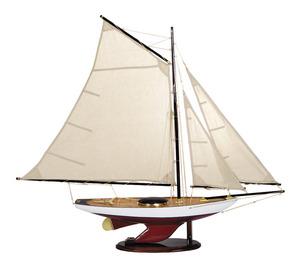 maquette de bateau, voilier, runabout Bermuda sloop - 99 cm Authentic Models -AM- Quirao idées cadeaux
