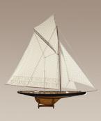 maquette de bateau, voilier, runabout Columbia J noir - 170 cm Authentic Models -AM- Quirao idées cadeaux