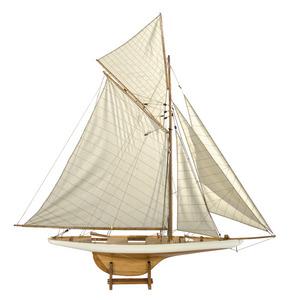 maquette de bateau, voilier, runabout Columbia ivoire - 114 cm Authentic Models -AM- Quirao idées cadeaux