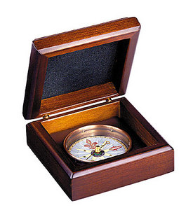 baromètre Boussole en coffret bois Authentic Models -AM- Quirao idées cadeaux