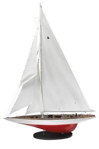 maquette de bateau, voilier, runabout Enterprise J 1930 - 80 cm Authentic Models -AM- Quirao idées cadeaux