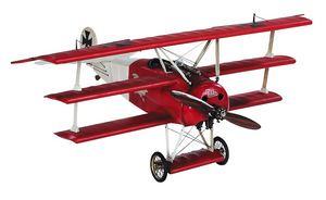 maquette d'avion Fokker Triplan rouge - 47 cm Authentic Models -AM- Quirao idées cadeaux