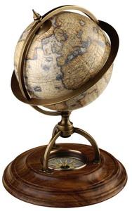 promotion sur Globe terrestre avec boussole