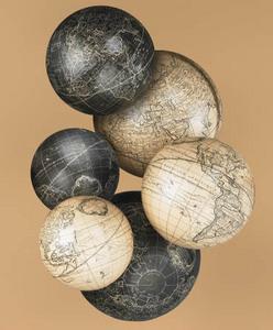 globe terrestre spheres vaugondy blanc ivoire par 6 gl123. Black Bedroom Furniture Sets. Home Design Ideas