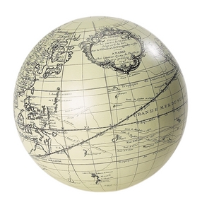 terrestrial globe vaugondy 18 cm ivory gl312. Black Bedroom Furniture Sets. Home Design Ideas