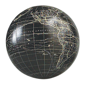 terrestrial globe vaugondy black 12 cm gl111. Black Bedroom Furniture Sets. Home Design Ideas