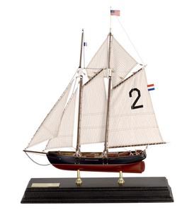 maquette de bateau, voilier, runabout Goëlette pilote New York - 55 cm Authentic Models -AM- Quirao idées cadeaux
