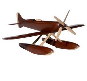 maquette d'avion Hydravion bois poli - 69 cm Authentic Models -AM- Quirao idées cadeaux