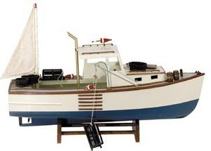 maquette de bateau, voilier, runabout Langoustier - 63 cm Authentic Models -AM- Quirao idées cadeaux
