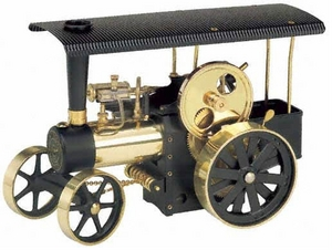 model steam engine D416 - Steam Traction Engine black-brass (similar to D406 assembled) Wilesco