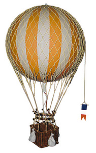 maquette d'avion Montgolfière Royal Aero, jaune - 32 cm Authentic Models -AM- Quirao idées cadeaux