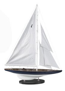 maquette de bateau, voilier, runabout Rainbow J 1934 - 63 cm Authentic Models -AM- Quirao idées cadeaux