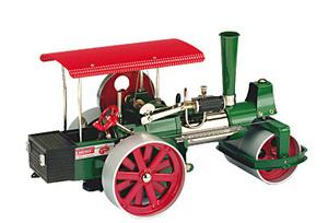 machine à vapeur D395 - Rouleau compresseur vert avec radio-télécommande Wilesco Quirao idées cadeaux