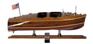 maquette de bateau, voilier, runabout Runabout 1930 - 44 cm Authentic Models -AM- Quirao idées cadeaux
