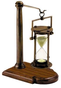 horloge Sablier 30 minutes bronze sur support Authentic Models -AM- Quirao idées cadeaux