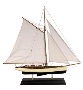 maquette de bateau, voilier, runabout Yacht classique 1930 bleu - 90 cm Authentic Models -AM- Quirao idées cadeaux