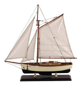 maquette de bateau, voilier, runabout Yacht classique 1930 Petit - 55 cm Authentic Models -AM- Quirao idées cadeaux