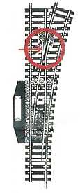 accessoire de train Aiguillage Model long cmdé à droite  (H0) 6081 Fleischmann Quirao idées cadeaux