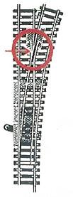 accessoire de train Aiguillage Model long manuel à droite  (H0) 6079 Fleischmann Quirao idées cadeaux