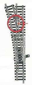 accessoire de train Aiguillage Model long manuel à gauche  (H0)  6078 Fleischmann Quirao idées cadeaux