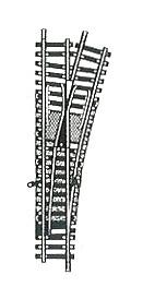 accessoire de train Aiguillage Model manuel à droite 165 mm (H0)  6071 Fleischmann Quirao idées cadeaux