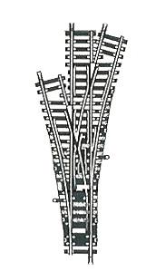 accessoire de train Aiguillage triple Model manuel  (H0) Fleischmann Quirao idées cadeaux