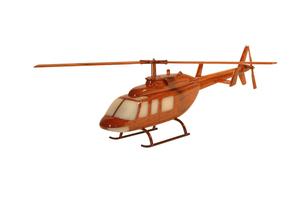 maquette d'helicoptère Bell 206l - 42 cm La Collection d'Avions Quirao idées cadeaux