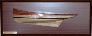demi-coque Bisquine demi-coque 43 cm L'Herminette Quirao idées cadeaux