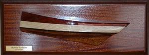 demi-coque Chaloupe sardinière Concarneau demi-coque 63 x 20 cm L'Herminette Quirao idées cadeaux