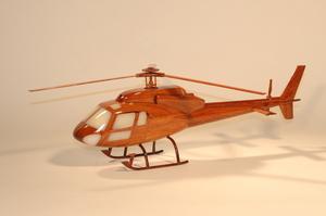 maquette d'helicoptère Eurocopter AS 355F - 45 cm La Collection d'Avions Quirao idées cadeaux