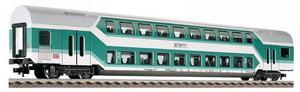 train miniature Voiture à 2 niveaux 2 cl.  (H0)  5125 Fleischmann Quirao idées cadeaux