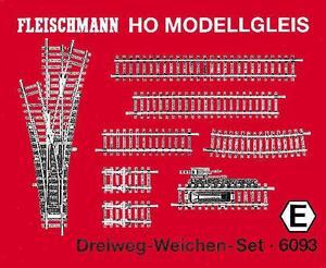 accessoire de train Set de rails à aiguillage triple Model (H0) Fleischmann Quirao idées cadeaux