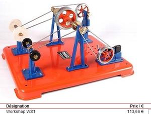 machine à vapeur Atelier ws1 Mamod Quirao idées cadeaux
