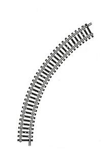 accessoire de train Rail Model courbe 60° (H0)  6020 carton de 20 Fleischmann Quirao idées cadeaux