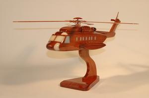maquette d'helicoptère Sikorsky S-92  45 cm La Collection d'Avions Quirao idées cadeaux