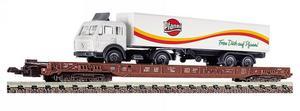 train miniature Wagon transport camion  (échelle N) Fleischmann Quirao idées cadeaux