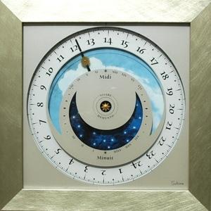 horloge Horloge du soleil - Alu brossé Soltime Quirao idées cadeaux