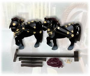 machine à vapeur Z431 - Attelage de chevaux Wilesco Quirao idées cadeaux